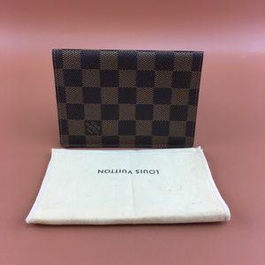 Preowned Louis Vuitton Damier Ebene Bifold Wallet